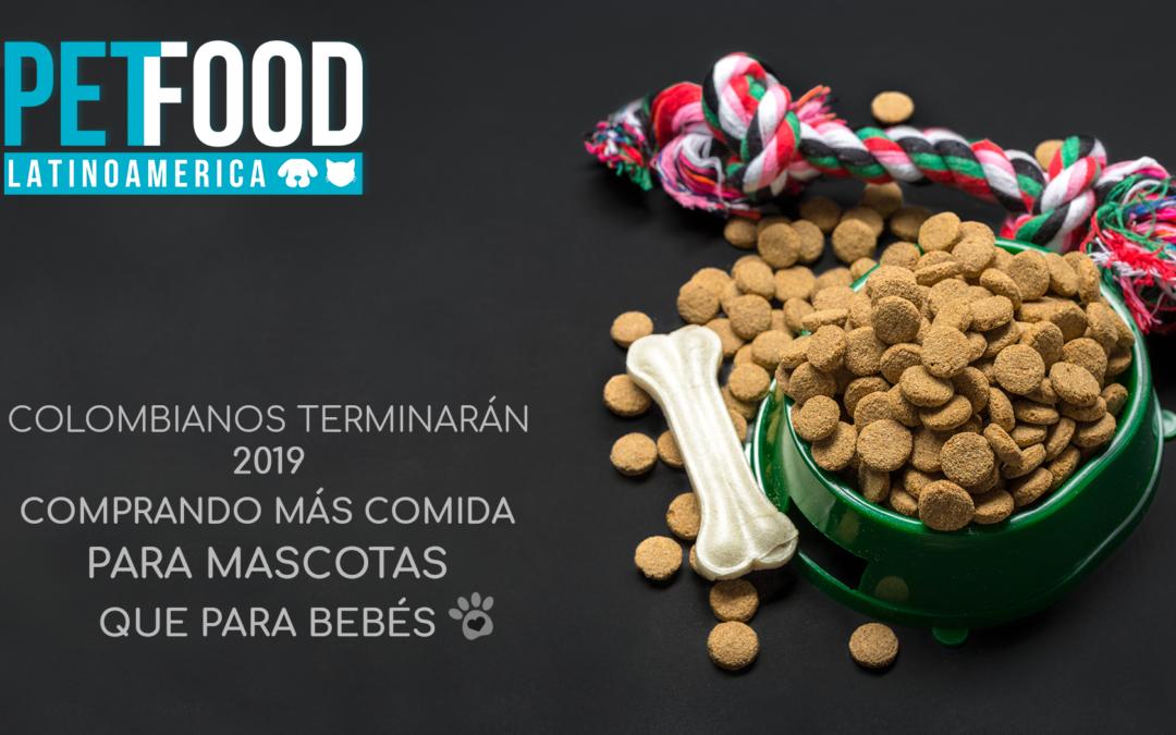 Colombianos terminarán 2019 comprando más comida para mascotas que para bebés