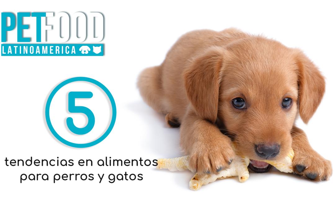5 tendencias en alimentos para perros y gatos.
