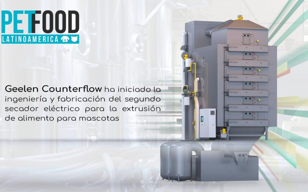 Segunda secadora eléctrica vendida a China para la extrusión de alimento para mascotas