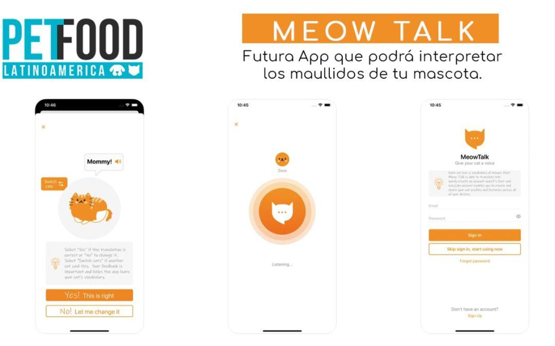 Meow Talk: Futura App que podrá interpretar los maullidos de tu mascota